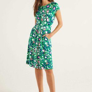 Boden Amelia dress woodland green floral dress 12